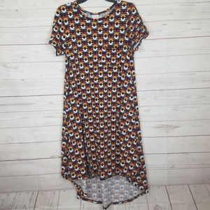 Lularoe geometric print shirt dress